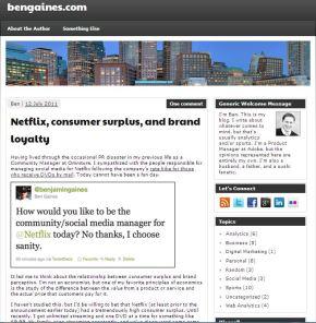 Netflix, consumer surplus, and brandloyalty