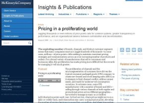 Pricing in a proliferating world