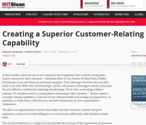 Creating a Superior Customer-Relating Capability