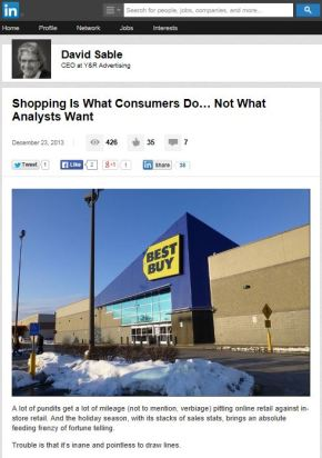 Shopping Is What Consumers Do, Not What AnalystsWant