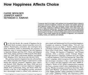 How Happiness AffectsChoice