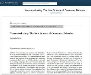 Neuromarketing: The New Science of Consumer Behavior
