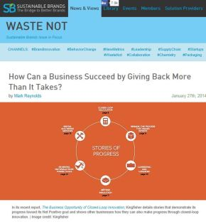 How Can a Business Succeed by Giving Back More Than It Takes?