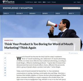 Think Your Product Is Too Boring for Word of Mouth Marketing?