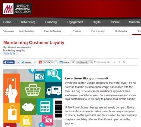 Maintaining Customer Loyalty: Love them like you mean it