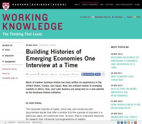 Building Histories of Emerging Economies One Interview at a Time