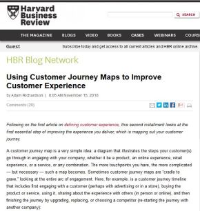 Using Customer Journey Maps to Improve Customer Experience