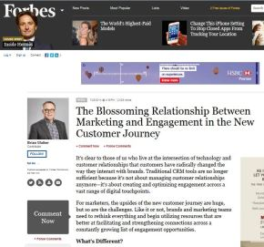 The Blossoming Relationship Between Marketing and Engagement in the New Customer Journey