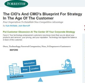 The CIO's And CMO's Blueprint For Strategy In The Age Of The Customer