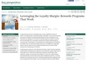 Leveraging the Loyalty Margin: Rewards Programs That Work
