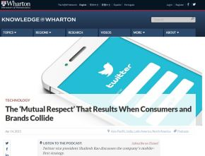 The 'Mutual Respect' That Results When Consumers and BrandsCollide